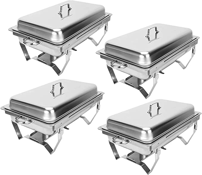 1 PCS Catering Classic Stainless Steel Chafer Chafing Dish Set 7L //7.4 QT Silver