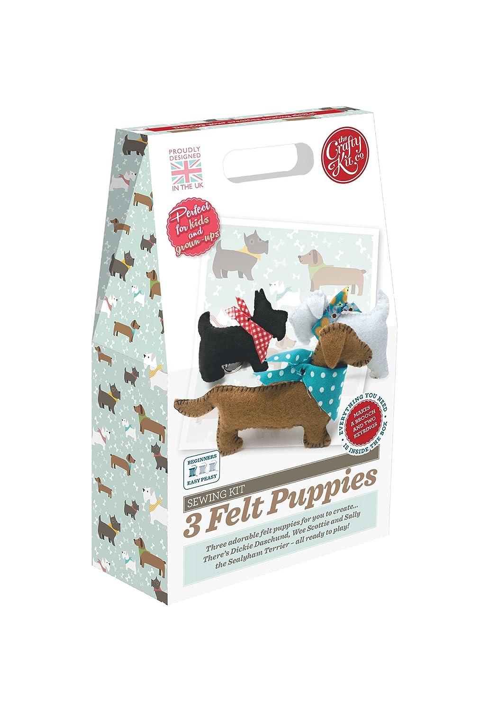 Crafty Kit Company CKC-SK-045 Sewing Kit 3 Felt Puppies