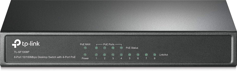 TP-Link Switch PoE+ 26-Port 10//100Mbps PoE+ Switch 24 10//100Mbps PoE+ Port TL-SL1226P 2 Gigabit RJ45 Port