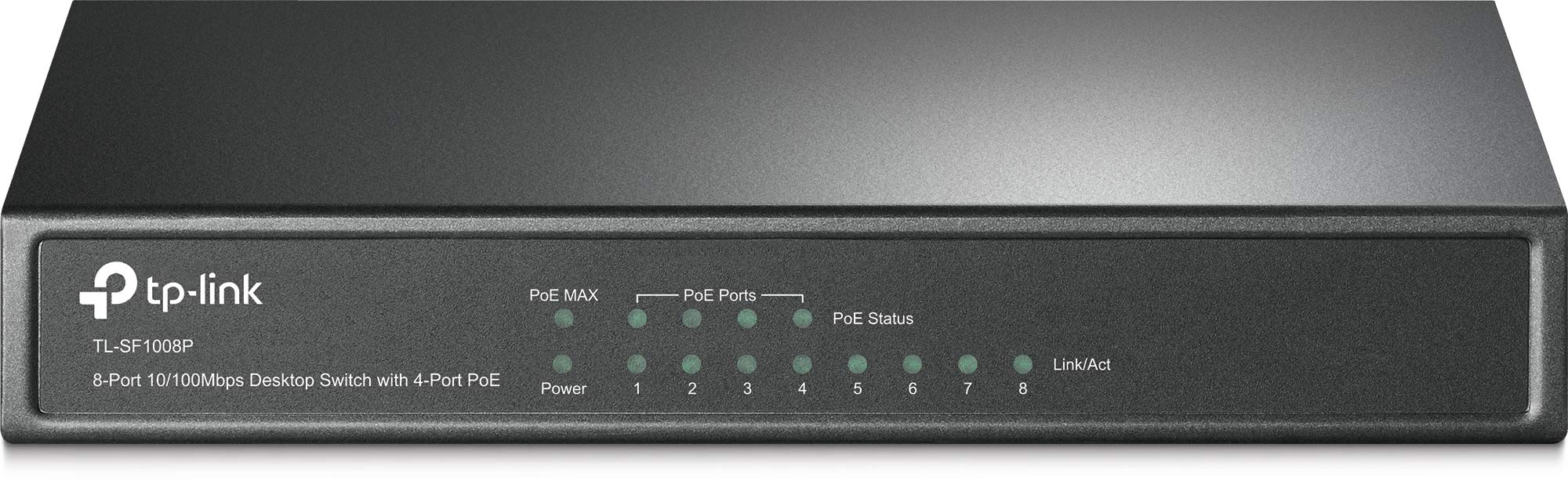 TP-Link 8-Port Fast Ethernet Unmanaged PoE Switch with 57W 4-PoE Ports | 802.3af | Plug and Play | Desktop| Metal | Limited Lifetime (TL-SF1008P) by TP-LINK