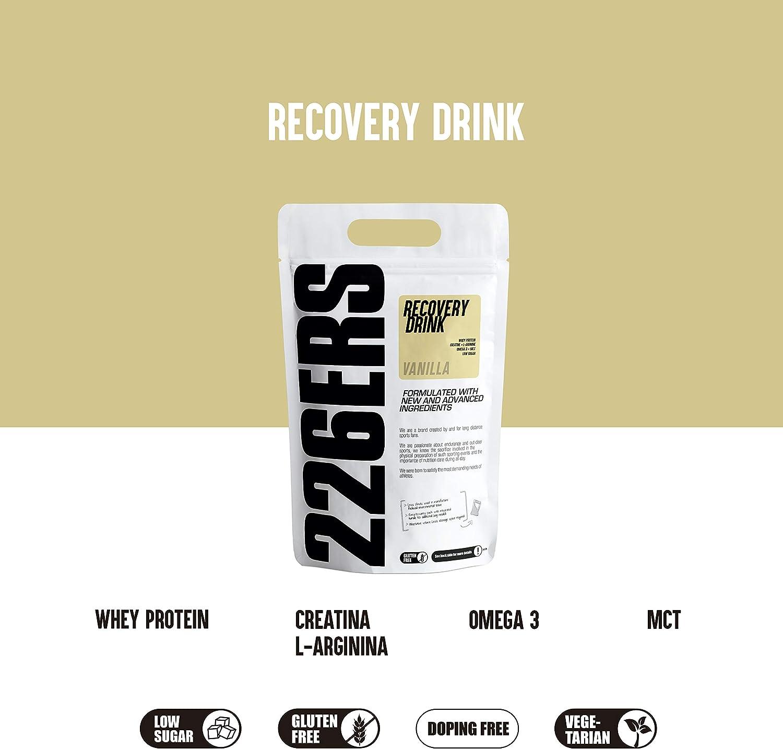 226ERS Recovery Drink Monodosis   Recuperador Muscular con Proteína Whey, Creatina, Hidratos de Carbono, Triglicéridos y L-Arginina, Sin Gluten, ...