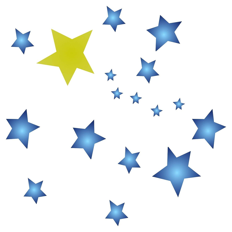 Schablone Schablone Schablone mit Sternenmotiv, wiederverwendbar, groß, Sterne, Himmelblau, Allover-Muster, für Papierprojekte, Scrapbook, Tagebuch, Wände, Böden, Stoff, Möbel, Glas, Holz usw. L B07J4X2S98 | Lebendige Form  db3bd6