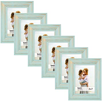 Amazoncom Langdons 5x7 Real Wood Picture Frames 6 Pack Eggshell