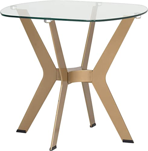 Studio Designs Home Archtech End Table, 23.5 W x 23.5 D x 21.75 H, Gold