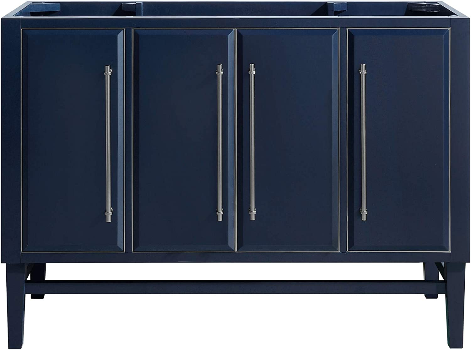 Avanity Navy Blue 48-Inch Bath Vanity Cabinet with Silver Trim