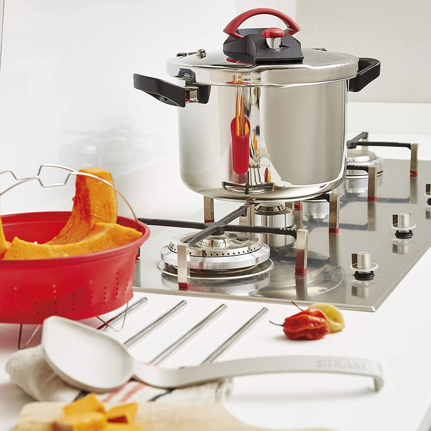 Use Sitram Stainless Steel Induction Pressure Cooker for Gas and Induction Stove