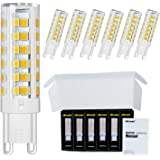 DiCUNO G9 LED Ceramic Bulb 6W 550LM Warm White 3000K 220-240V Energy Saving Lamp Chandelier Non-dimmable 6Pcs