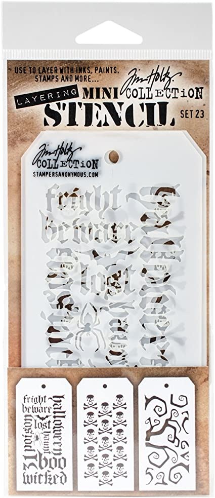 Tim Holtz Mini Layered Stencil Set 3//pkg-set #31