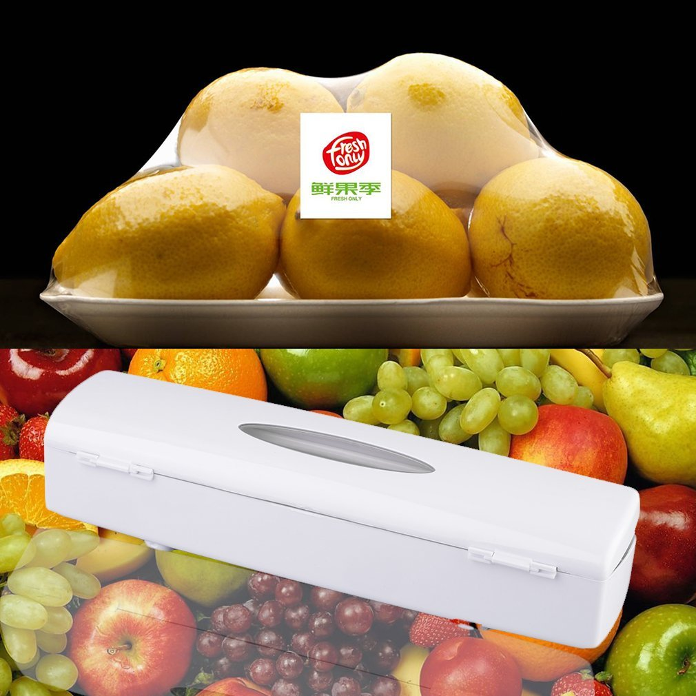 Crewell cucina in plastica per alimenti cling Wrap foil cutter dispenser conservante film Tool