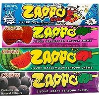 Zappo Chews Variety Bulk Pack Strawberry Cola Grape Watermelon 26g Party Favours Lollies Bulk Candy Buffet Halloween…