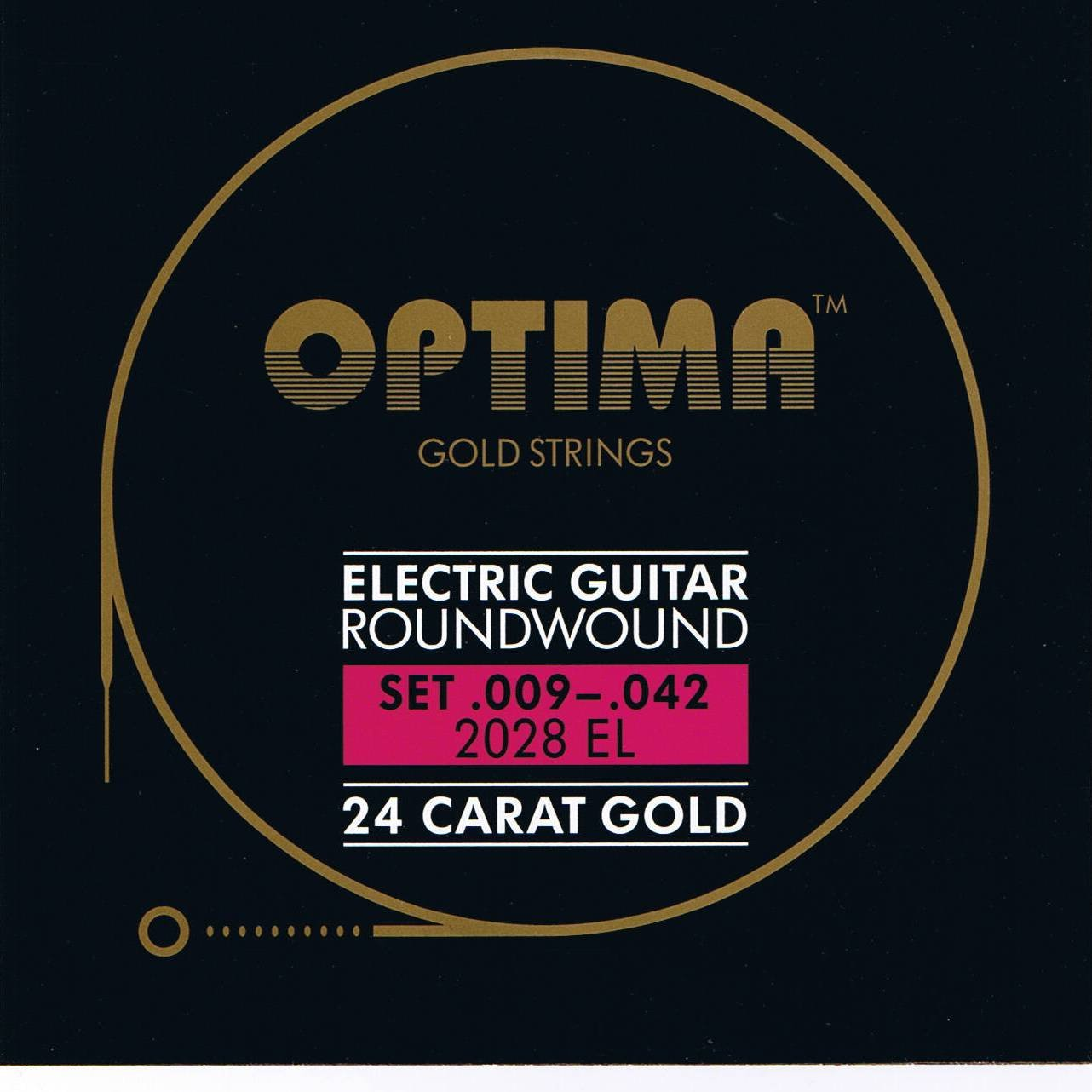 Optima 24 K Gold Plated Electric Guitar Strings .009-.042