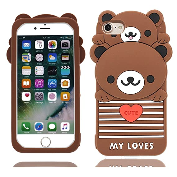 I Phone 6 S Plus Cover,I Phone 6 Plus Cover,[ Cute Cartoon 3 D Lucky Cat ] Soft Tpu Back Washable Cover Case Protective Skin For I Phone 6 Plus/ 6 S Plus by Yt Light Rong Zhou Us