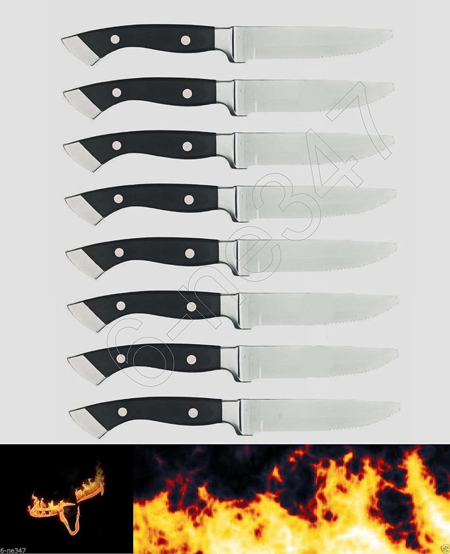 amazon com 8 longhorn steakhouse steak knives new bbq kitchen