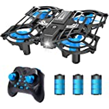 NEHEME NH320 Mini Drones for Kids and Beginners, RC Small Quadcopter Drone with 3 Batteries, 3D Flip, Speed Adjustment & Alti