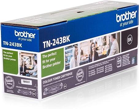 Brother Tn 243bk Original Toner Cartridge For Brother Dcp L3510cdw Dcp L3550cdw Hl L3210cw Hl L3230cdw Hl L3270cdw Mfc L3710cw Mfc L3730cdn Mfc L3750cdw And Mfc L3770cdw Black Bürobedarf Schreibwaren