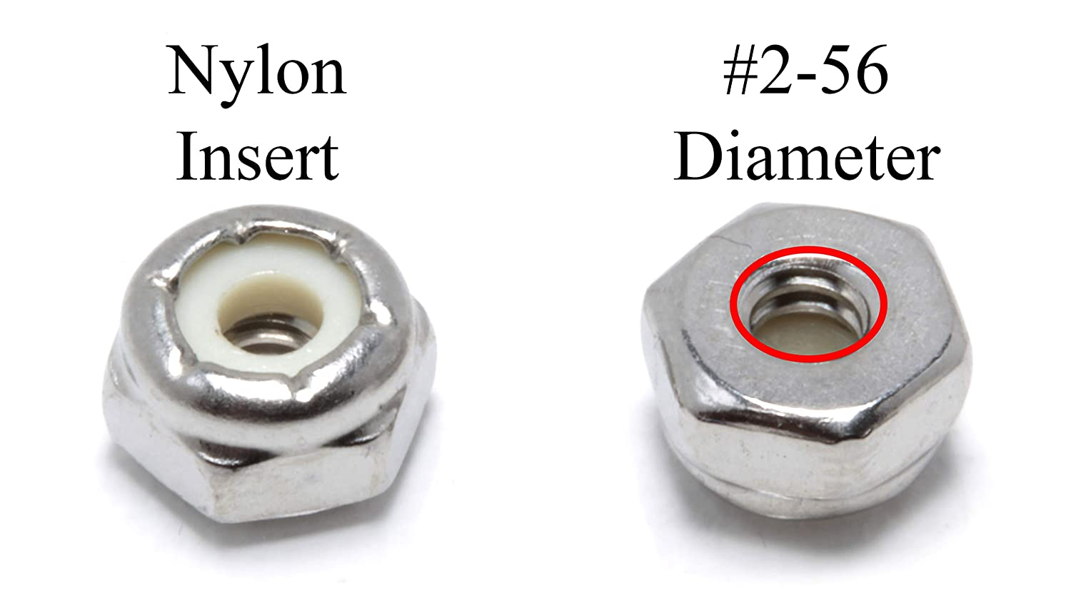 Stainless Steel Finish Hex 304 18-8 Stainless Steel with Nylon Insert 5//16-18 Inch Lock Nut by Bolt Dropper 100 Pack