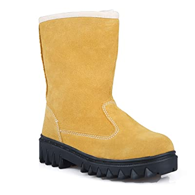 Amazon.com | KaiFeng Womens Snow Boots Anti-Slip Winter Working Boots for Women Oil and Dust Proof Water Repellent Leather Cold Weather Fur Lined Super Warm Ankle Boots Outdoor Shoes | Snow Boots