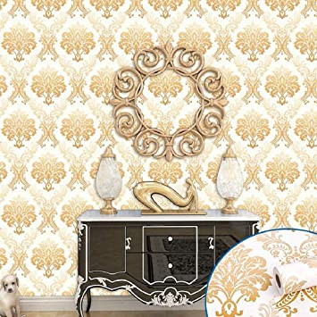 Jaamso Royals Damask Removable Wallpaper Peel And Stick Contact Paper Decorative Self Adhesive Shelf Drawer Liner Royals Design Wall Paper