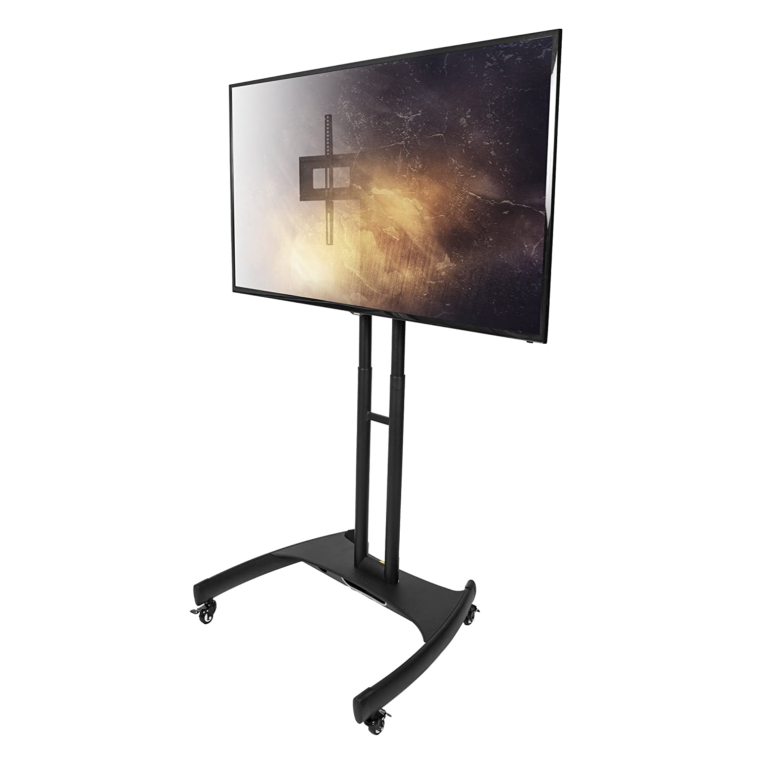 Kanto MTM65 Mobile TV Stand with Mount for 37 to 65 inch Flat Panel Screens Black