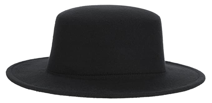 Adult Women Men Classic Flat Top Hat Fedora Hats Trilby Caps Panama Hat  Jazz Cap Black f5b203b0900