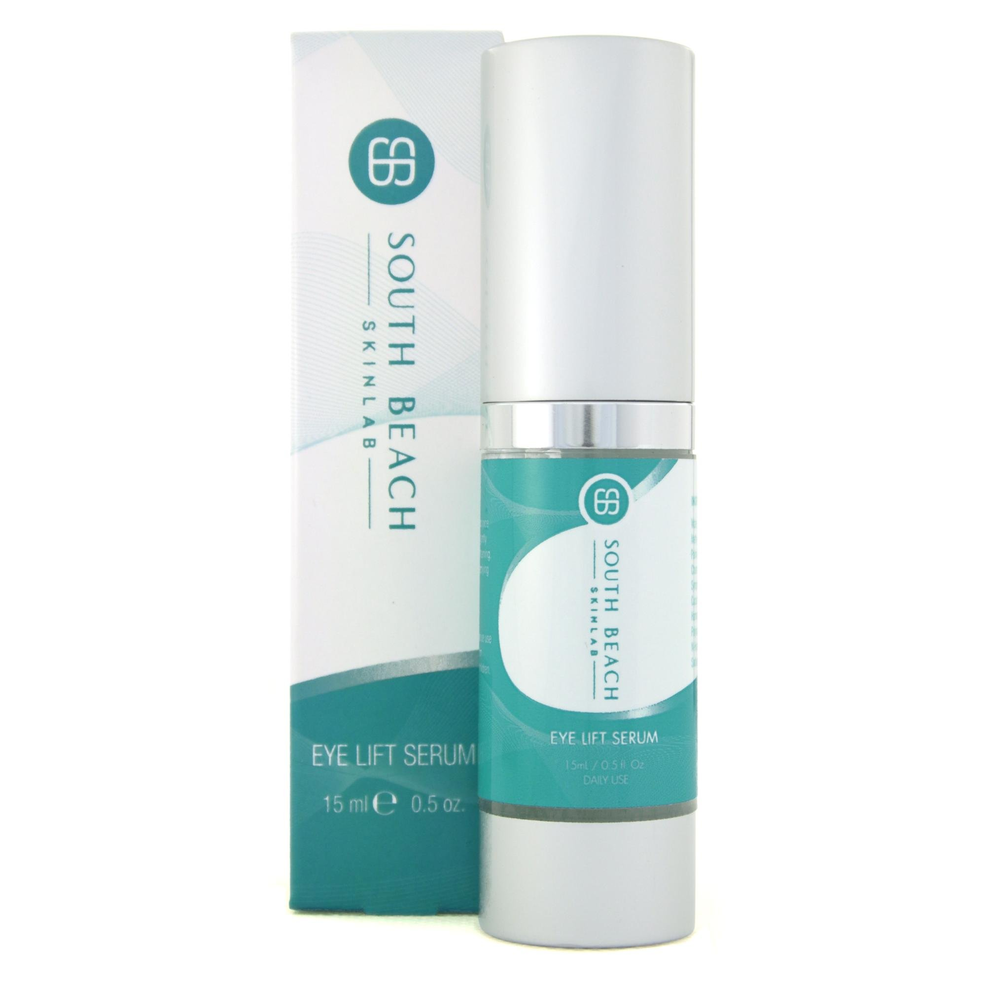South Beach Skin Lab Eye Lift Serum - Peptide Formula for Under Eye Treatment of Dark Circles, Puffiness, Wrinkles and Bags.