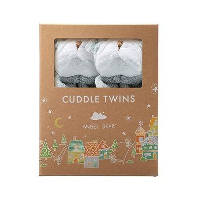 Angel Dear Grey Bulldog Twin Set Blankies Box. : Baby