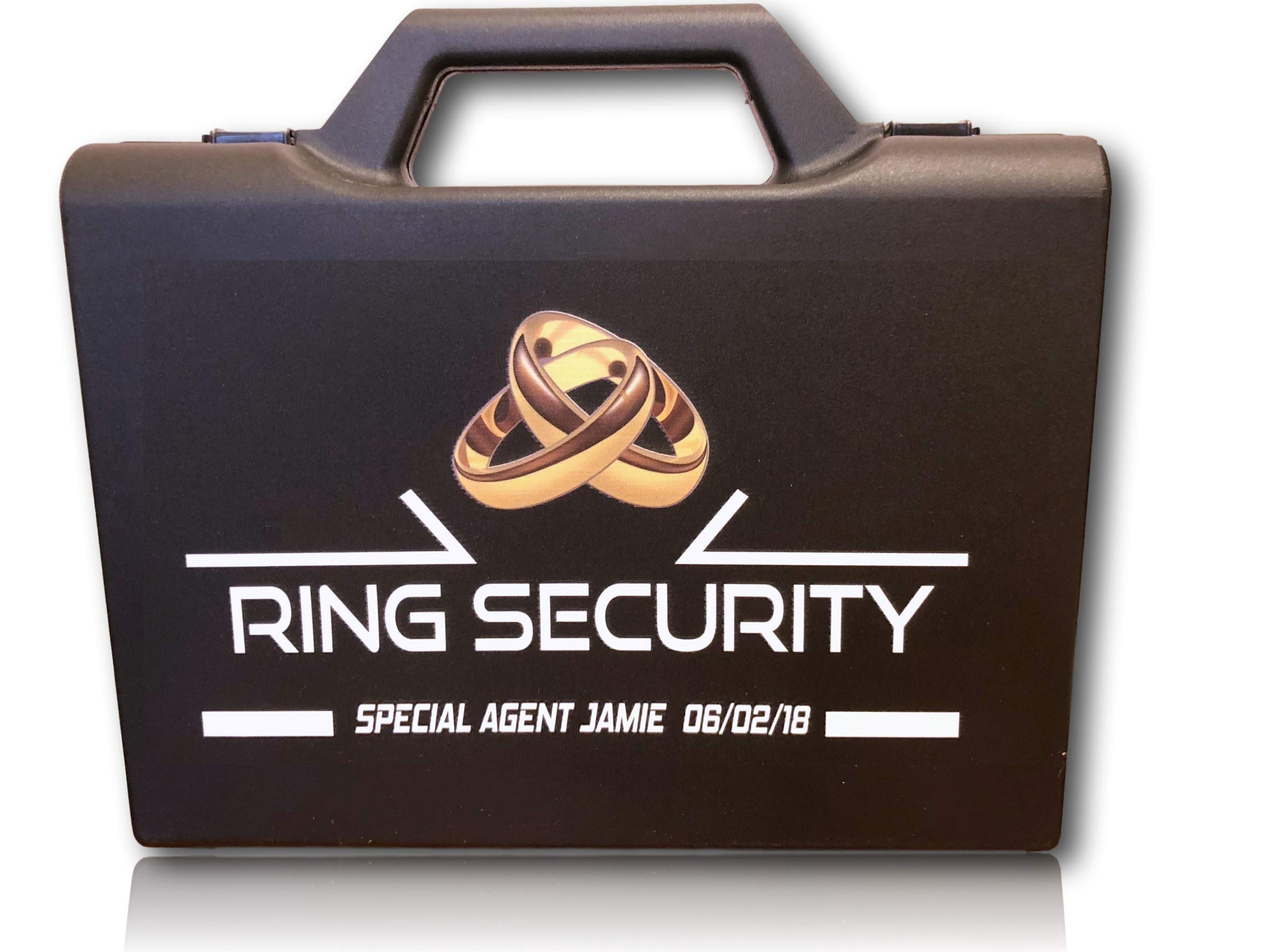 Personalized Ring Security Case - Ring Bearer Case Box - Wedding - Pillow Alternative by Classy Hen