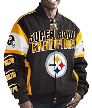 2017 NFL Mens Pittsburgh Steelers 6 Time Super Bowl Champions Cotton Twill  Commemorative Jacket (Small acde63c12