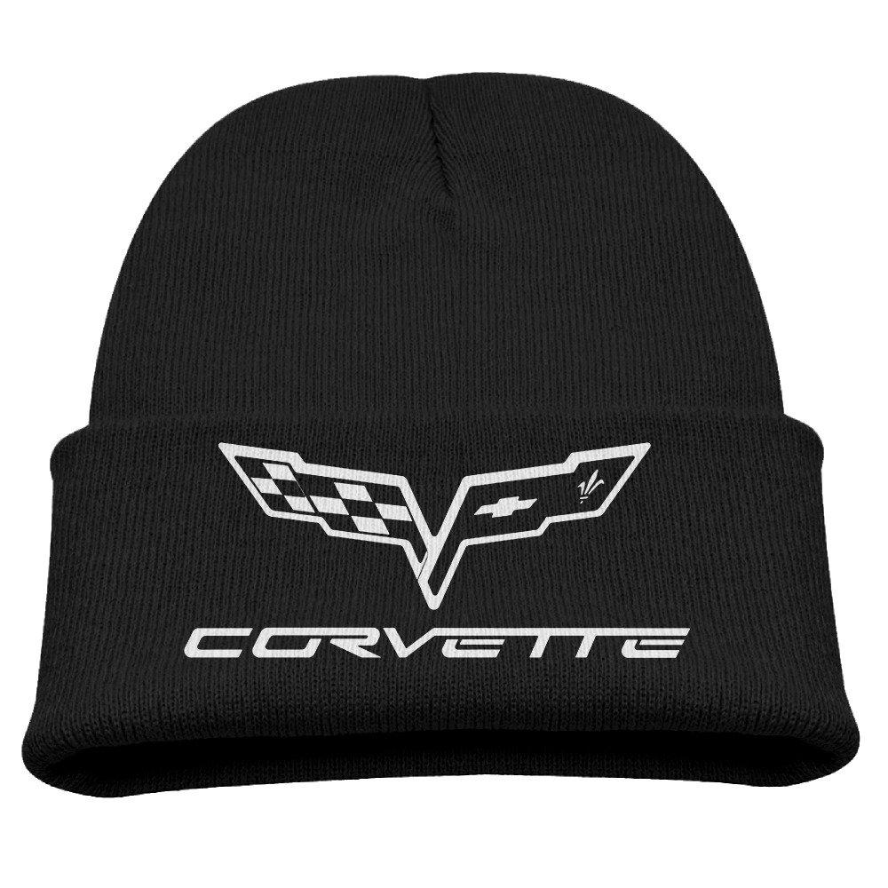 Corvette Racing Racer Warm Winter Hat Knit Beanie Skull Cap Cuff Beanie Hat Winter Hats Kids Larenoto
