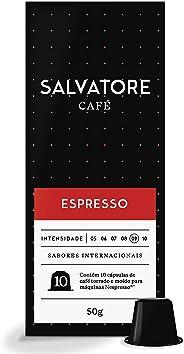 Cápsulas De Café Espresso Salvatore, Compatível Com Nespresso, Contém 10 Cápsulas