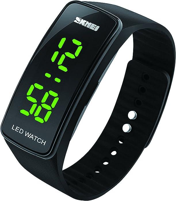 Reloj deportivo digital para niños, impermeable, con alarma, reloj de pulsera electrónico para exteriores con retrfoiluminación LED para adolescentes