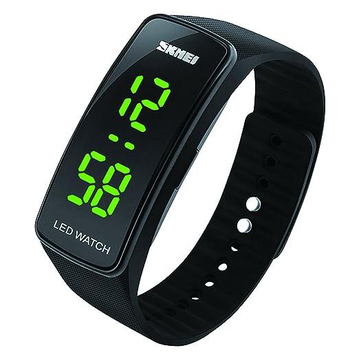 Reloj deportivo digital para niños, impermeable, con alarma, reloj de pulsera electrónico para exteriores con retrfoiluminación LED para adolescentes: ...