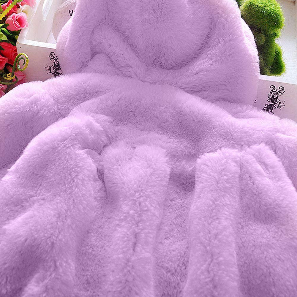 Lifestyler Girls Winter Hooded Coat Cloak Jacket Thick Warm Clothes Fashion Casual Zipper Cute Outwear