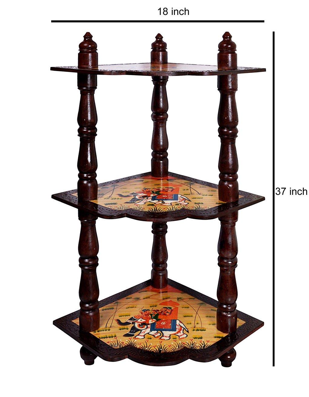 Meuble de rangement d'angle en bois debout étagère Rack