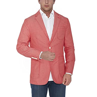 sebastian taheri uomo mens modern fit sports coat jacket salmon 50r