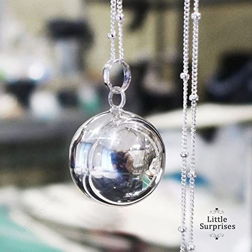 Amazon 20mm large angel caller high polished sterling silver 20mm large angel caller high polished sterling silver harmony ball chime sound 30quot necklace ls71 aloadofball Gallery