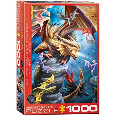 EuroGraphics Dragon Clan by Anne Stokes 1000-Piece Puzzle: Toys & Games
