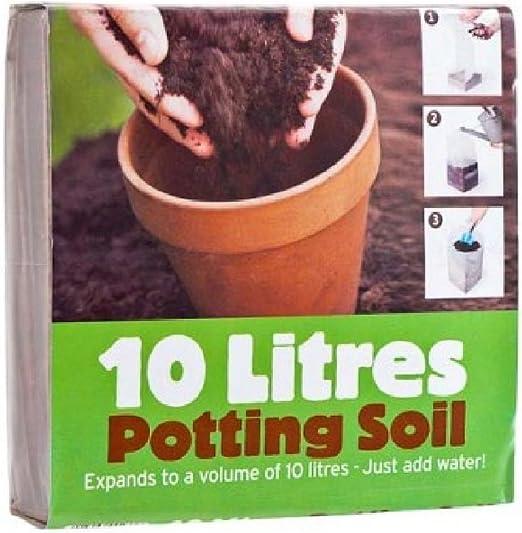 10 litros de tierra para macetas (fibra de coco).: Amazon.es: Jardín
