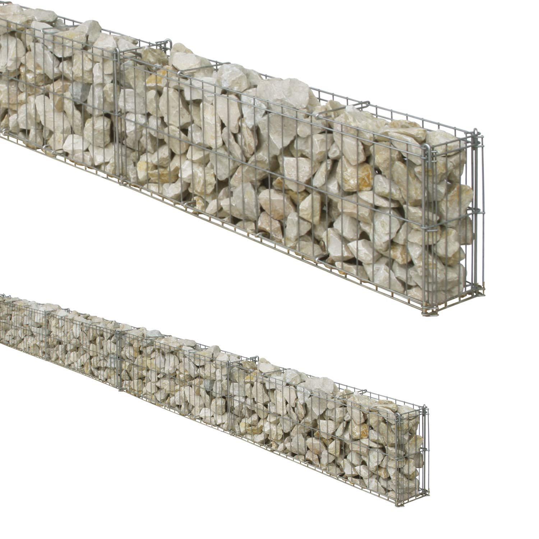 gaviones decorativos de piedra paredes medida Rejilla para muro de piedra y gavión de 20 cm de altura, 4, 64 m de  longitud como máximo y 10 cm de profundidad: Amazon.es: Jardín