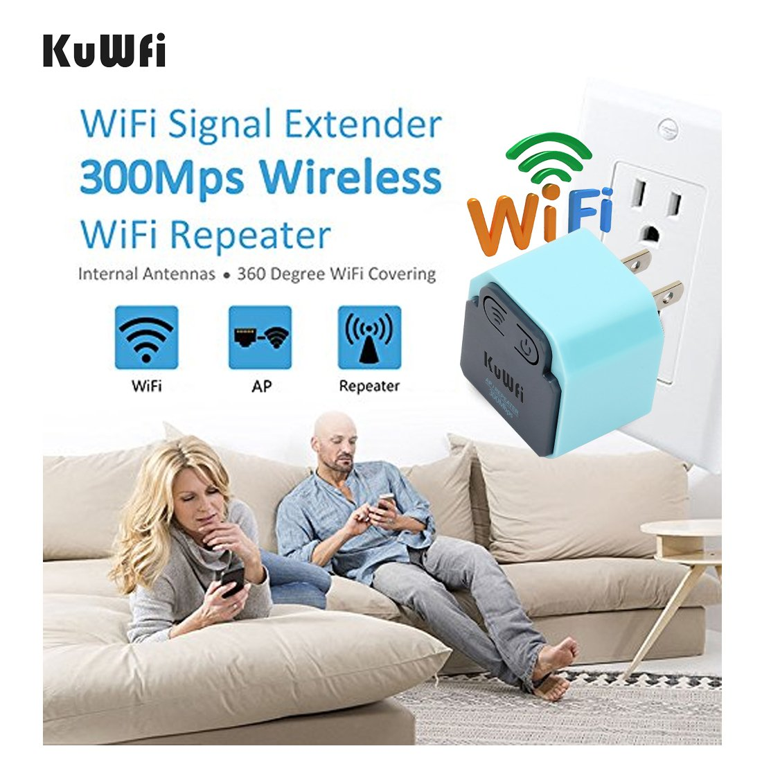 Networking Products 300Mbps WIFI Extender KuWFi MINI