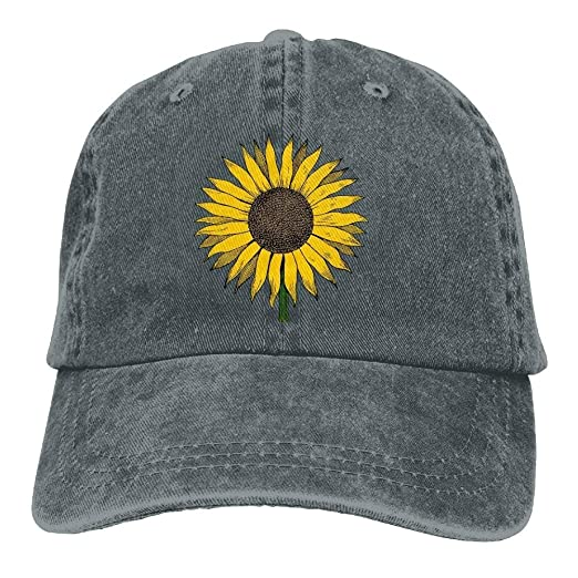 Amazon.com  Sunflower Vintage Adjustable Baseball Cap Mom Dad Hat ... 29a136dfdd1