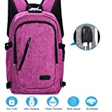 Laptop Backpack with USB Charging Port and Lock