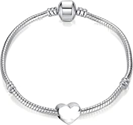 82766e6d9 Charm Buddy Girls' 15cm Pandora Style Bracelet with Gift Box Fit Silver  Charms