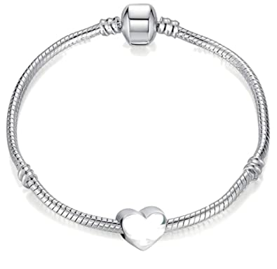 c2073ac06 15cm Young Girls Starter Charm Bracelet with Silver Heart and Gift Box for  Age 3-5 Years: Charm Buddy: Amazon.co.uk: Jewellery