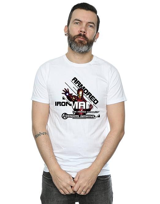 Marvel Hombre Iron Man Armored Avenger Camiseta: Amazon.es: Ropa y ...