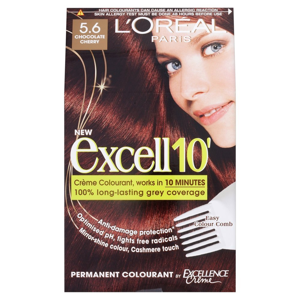 L'Oreal Paris Excell 10 Hair Colourant Chocolate Cherry 5.6 ...