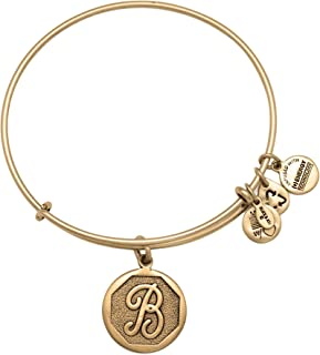 product image for Alex and Ani A13EB14BG Initial B Charm Bangle Bracelet