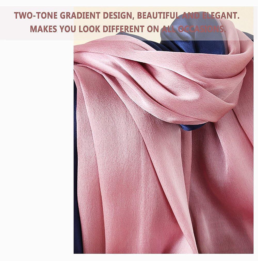 7a856e351ea Description du produit. W.Best Femme Foulard 100 % Soie Grande Echarpe  Châle Ultra-Léger Respirant Elégant ...