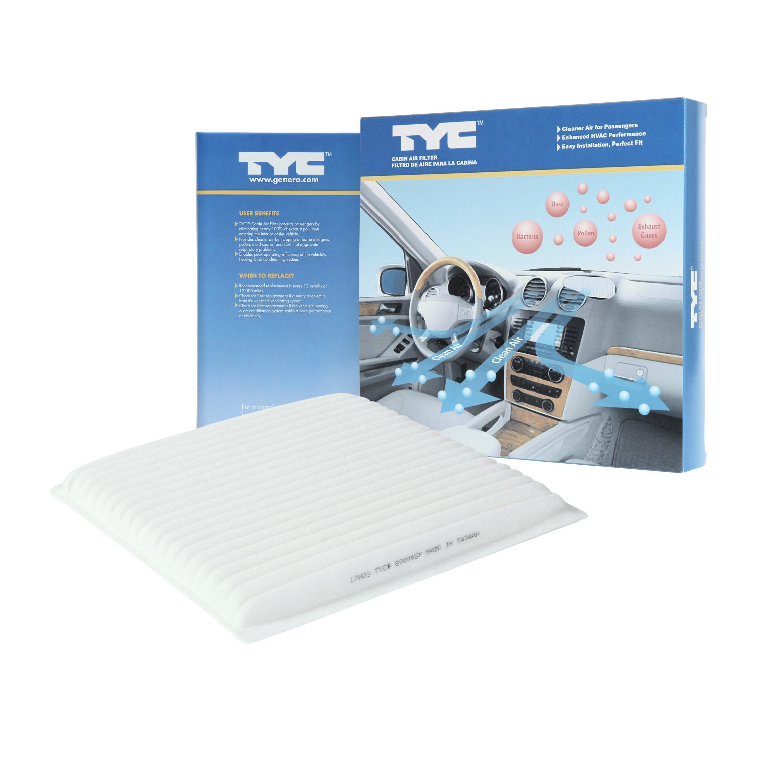 Amazon.com: TYC 800005P Toyota Replacement Cabin Air Filter: Automotive