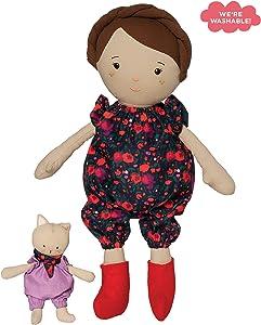 Manhattan Toy Playdate Friends Freddie Machine Washable and Dryer Safe 14 Inch Doll with Companion Stuffed Animal